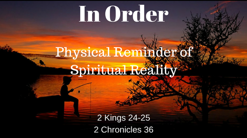 Reach Youth Global · In Order  Physical Reminder of